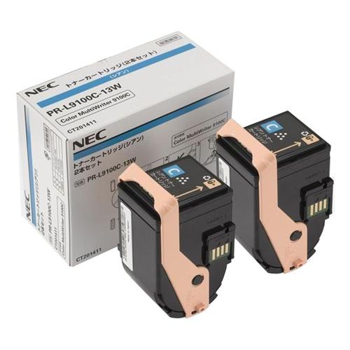 純正品 NEC PR-L9100C-13W シアン トナー2本 トナー2本/ NEC 4548835141452【返品不可商品 シアン】, 東大和市:4f2f5c42 --- m.vacuvin.hu