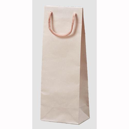 【送料無料】カラークラフトバッグTW(ピンク) 100枚_紙袋_手提げ袋_紙バッグ_業務用