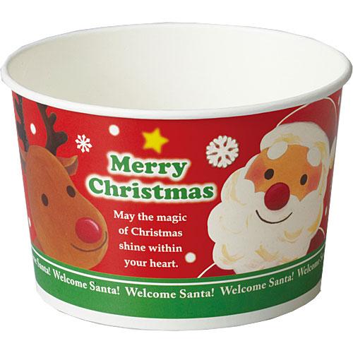XS801 ロールFカップ(Wサンタ) 300枚_クリスマス_紙容器_業務用_【送料無料】