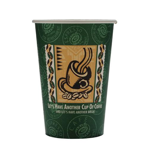 厚紙紙コップ14オンス(SMT-400)レッツコーヒー 1000個_業務用_紙コップ 耐熱_ホット用_400ml_コーヒー_イベント_テイクアウト