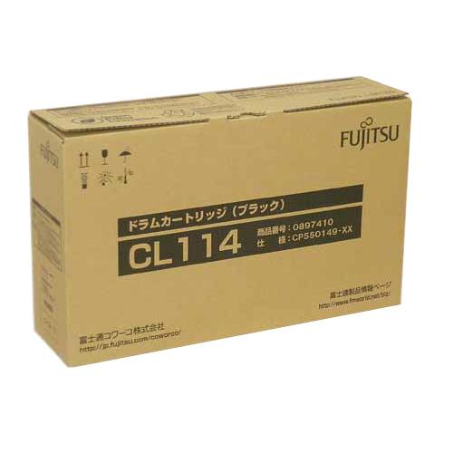 【純正】FUJITSU(富士通)ドラムカートリッジCL114ブラック / 4988618918428【返品不可商品】
