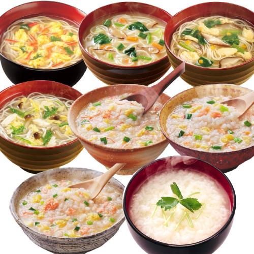アマノフーズ フリーズドライ にゅうめん ・ 炙り海鮮雑炊 8種類16食 セット  お歳暮 インスタント食品
