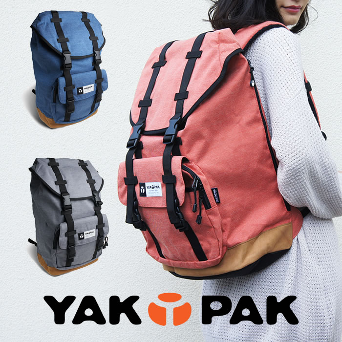 YAKPAK ヤックパック リュック リュックサック バックパック デイパック レディース メンズ YP1012【コンビニ受取対応商品】