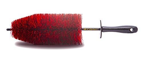 EZ Detail Brush Big - レッド ホイールリムクリーナー 車 オートディテールツール 上品 トラック バイク 傷防止 買取 その他の車両用