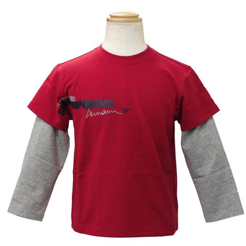 アルマーニ ジュニア ARMANI JUNIOR レイヤード 長袖Tシャツ NXH842CRED 【ブランド子供服】