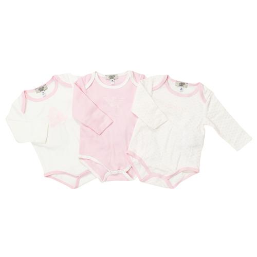 アルマーニ ベビー ARMANI BABY ベビー服 出産祝いギフト 長袖ロンパース 3点セット OK802AKWHT
