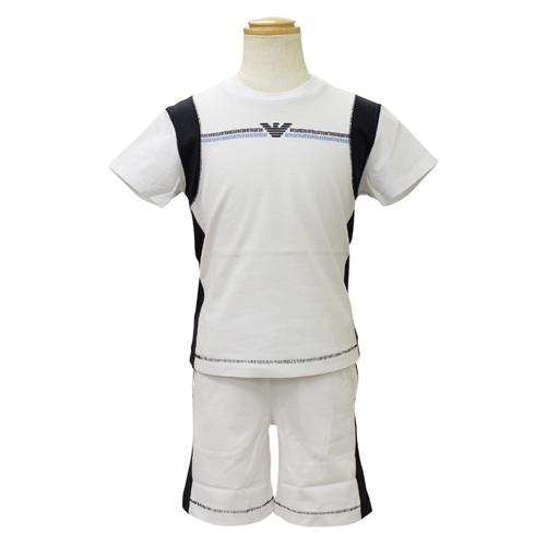 アルマーニ ジュニア ARMANI JUNIOR セットアップ (半袖Tシャツ・ハーフパンツ) PXD802FWHT 【ブランド子供服】