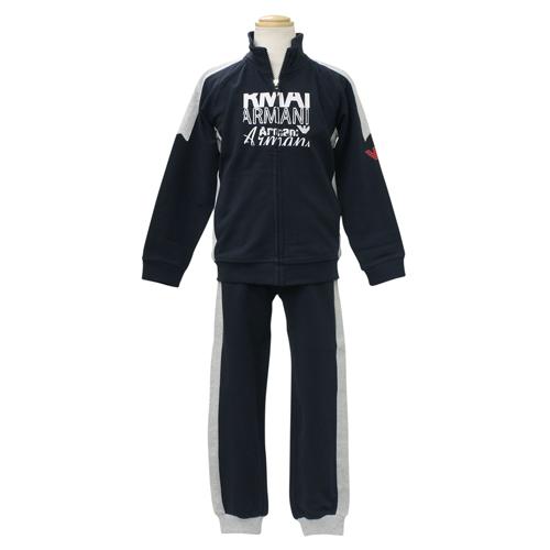 アルマーニ ジュニア ARMANI JUNIOR 子供服 セットアップ (長袖ジップアップトレーナ・パンツ) RXD836KNVY