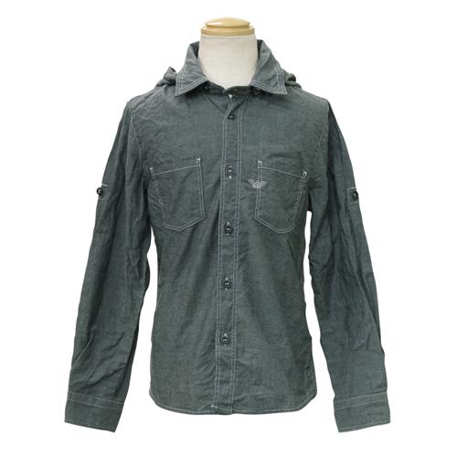 アルマーニ ジュニア ARMANI JUNIOR 子供服 長袖パーカーシャツ (フード付) RXC657S