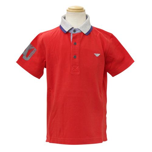 アルマーニ ジュニア ARMANI JUNIOR 子供服 半袖ポロシャツ (付け替え用襟付) T4M553URED