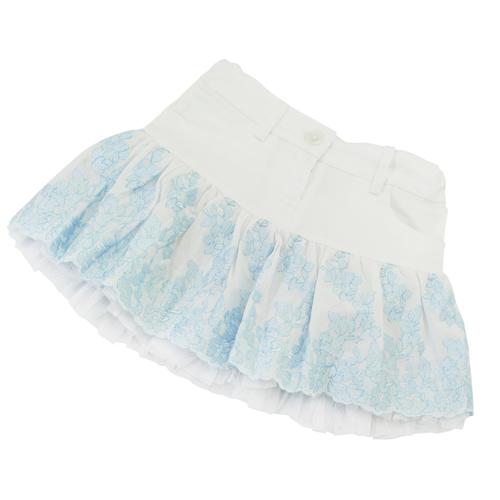 MISS BLUMARINE 【SALE】【値下げ!】ミス ブルマリン パニエ付 花柄スカート BJ5110【ブランド子供服】