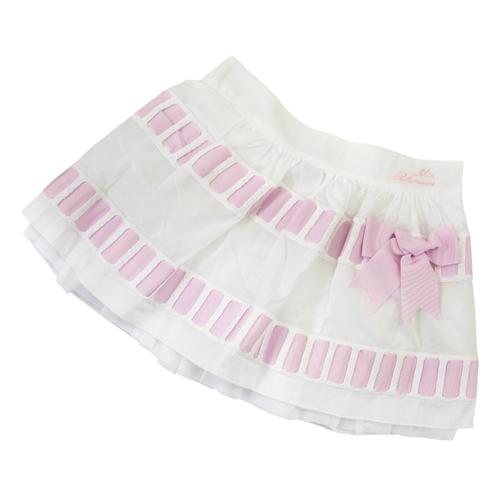 MISS BLUMARINE 【SALE】【値下げ!】ミス ブルマリン パニエ付 スカート BJ5111PK【ブランド子供服】