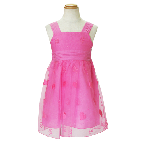 【SALE】【再値下げ!】MISS BLUMARINE ミス ブルマリン ノースリーブ・子供 ドレス・ワンピース フォーマルドレス BJ5195PK【ブランド子供服】