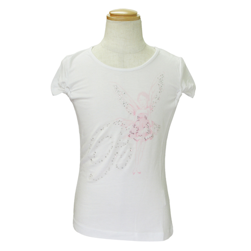 MISS BLUMARINE 【SALE】【値下げ!】ミス ブルマリン パフスリーブTシャツ BJ5275PK【のし対応】【ブランド子供服】