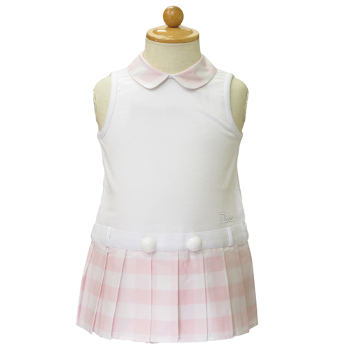 ベビーディオール Baby Dior ノースリーブ 襟付ワンピース CD-0236PK 【のし対応】【ブランド子供服】