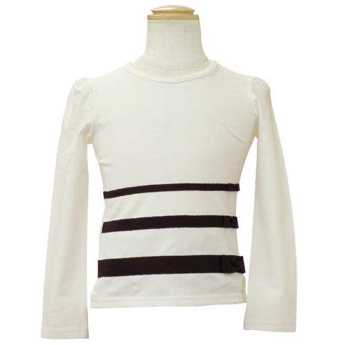 クリスチャン ディオール Christian Dior リボン付 長袖Tシャツ ロンT CD-0251IV 【ブランド子供服】