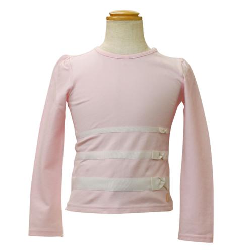 クリスチャン ディオール Christian Dior リボン付 長袖Tシャツ ロンT CD-0251PK 【ブランド子供服】