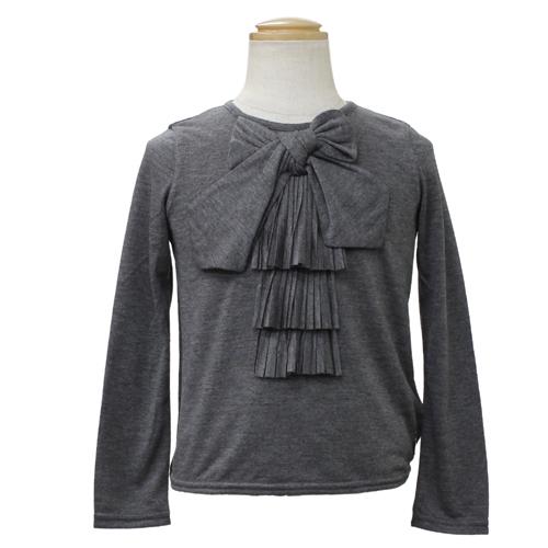 クリスチャン ディオール Christian Dior リボン付 長袖Tシャツ ロンT CD-0253GRY 【ブランド子供服】