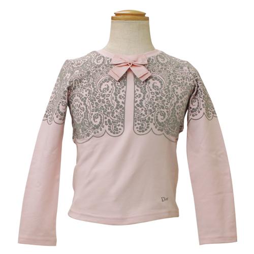クリスチャン ディオール Christian Dior リボン付 長袖Tシャツ ロンT CD-0254PK 【ブランド子供服】