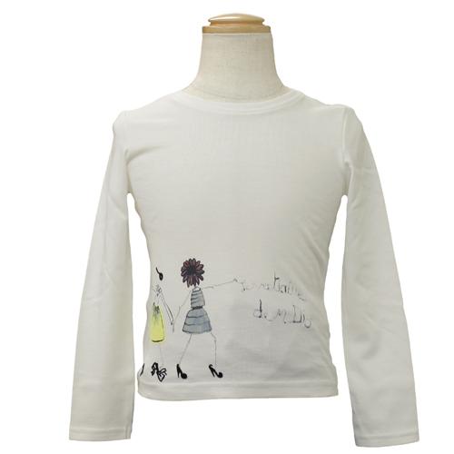 クリスチャン ディオール Christian Dior 長袖Tシャツ ロンT CD-0255IV 【ブランド子供服】