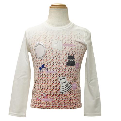 クリスチャン ディオール Christian Dior 長袖Tシャツ ロンT CD-0257IV 【ブランド子供服】