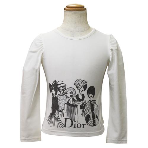 クリスチャン ディオール Christian Dior 長袖Tシャツ ロンT CD-0264WHT 【ブランド子供服】
