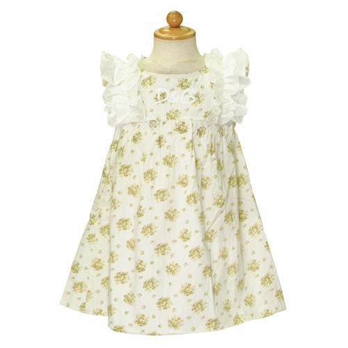 D&G ジュニア ノースリーブ ワンピース 子供ドレス フォーマルドレス DGL54735WHT 【ブランド子供服】