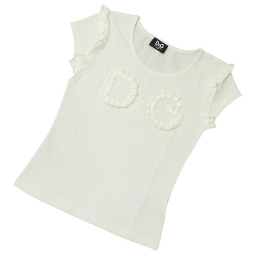 D&G ジュニア 半袖Tシャツ DGL54835WHT 【ブランド子供服】