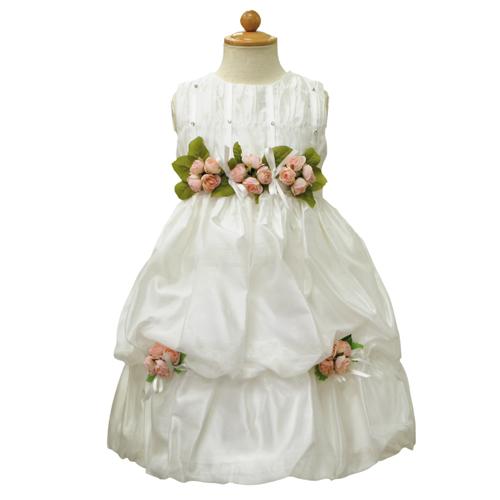 【SALE】【再値下げ!】Lesy レジー ノースリーブ 子供ドレス ワンピース フォーマルドレス LE1019IV【ブランド子供服】