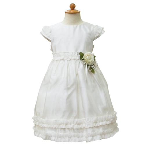 【SALE】【再値下げ!】Lesy レジー パフスリーブ 子供ドレス ワンピース フォーマルドレス LE1020IV【ブランド子供服】