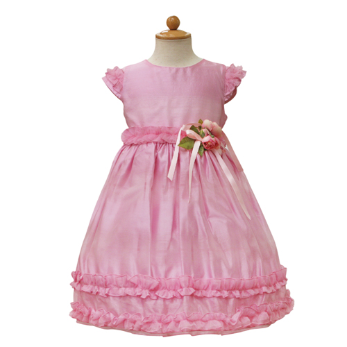 【SALE】【再値下げ!】Lesy レジー パフスリーブ 子供ドレス ワンピース フォーマルドレス LE1020PK【ブランド子供服】