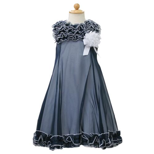 Lesy レジー ノースリーブ 子供ドレス ワンピース フォーマルドレス LE1037NVY【ブランド子供服】