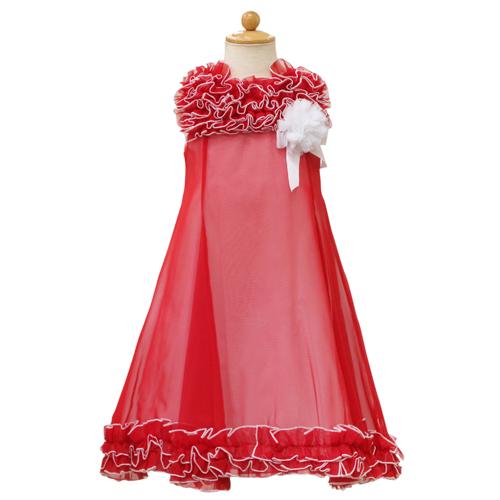 Lesy レジー ノースリーブ 子供ドレス ワンピース フォーマルドレス LE1037RED【ブランド子供服】