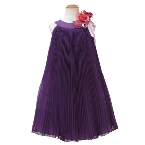 【SALE】【再値下げ!】Lesy レジー ノースリーブ 子供ドレス ワンピース フォーマルドレス LE1062PU【ブランド子供服】