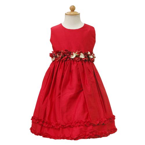 【SALE】【再値下げ!】Lesy レジー ノースリーブ 子供ドレス ワンピース フォーマルドレス LE1111RED【ブランド子供服】