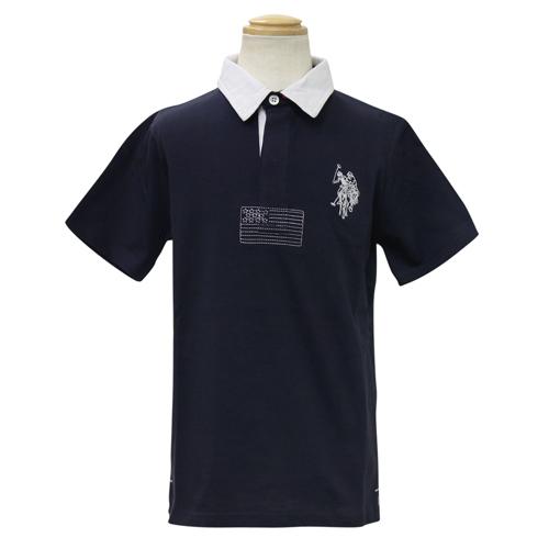 ユーエスポロアソシエーション(キッズ) U.S. POLO ASSN.(KIDS) 半袖ポロシャツ USP70432NV
