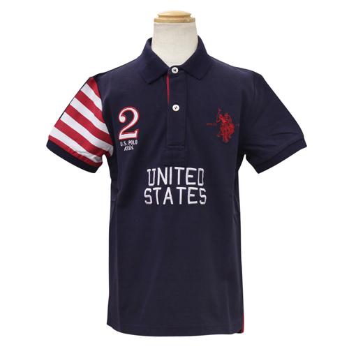 ユーエスポロアソシエーション(キッズ) U.S. POLO ASSN.(KIDS) 半袖ポロシャツ USP70740NV