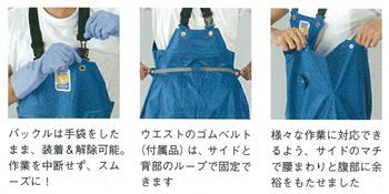プロ仕様の耐寒加工の胸付合羽ズボン《ロゴス》マリンエクセル 胸付ズボン膝当て付(3Lサイズ)