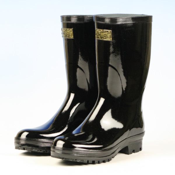 【長靴 メンズ 日本製】《トーヨー》RB紳士半長2ムレ予防!機能付きの黒長靴