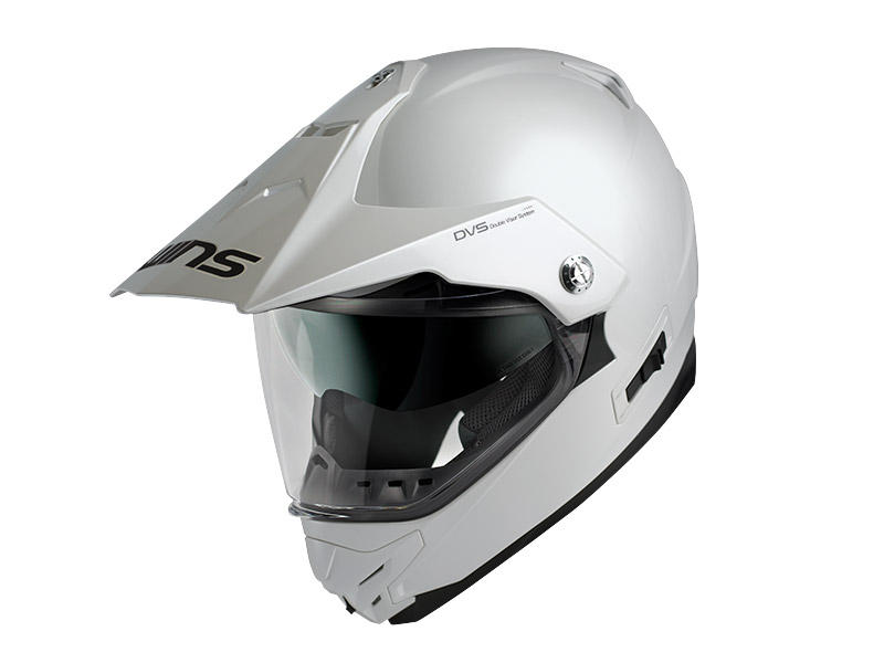 ウインズ(WINS)オフロードインナーバイザーつきヘルメット X-ROAD(ソリッド) (クールホワイト・XL)