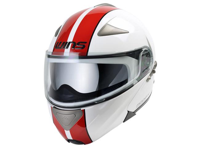 ウインズ(WINS)システムヘルメット MODIFY(モディファイ) ライン(GT STRIPE) (ホワイト×レッド・L)