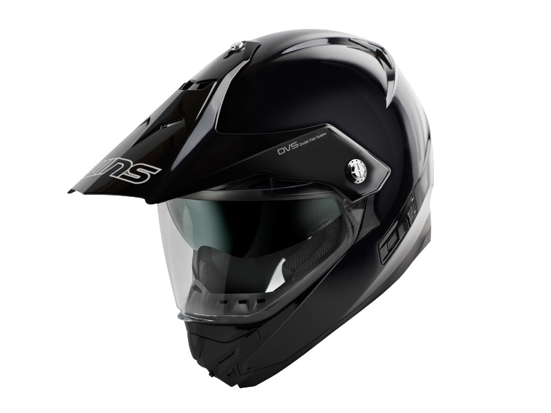 ウインズ(WINS)オフロードインナーバイザーつきヘルメット X-ROAD(ソリッド) (メタリックブラック・L)