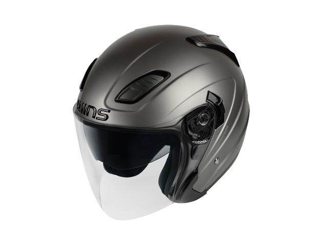 ウインズ(WINS)ジェットヘルメット SHADE(シェード)(ソリッド) (マットガンメタル・M/L)