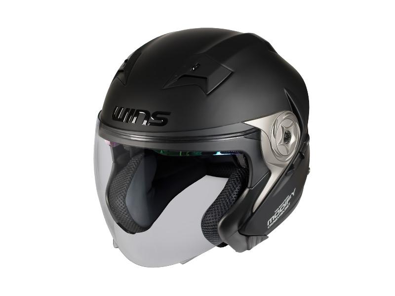 ウインズ(WINS)ジェットヘルメット MODIFY(モディファイ) X JET (マットブラック・XL)
