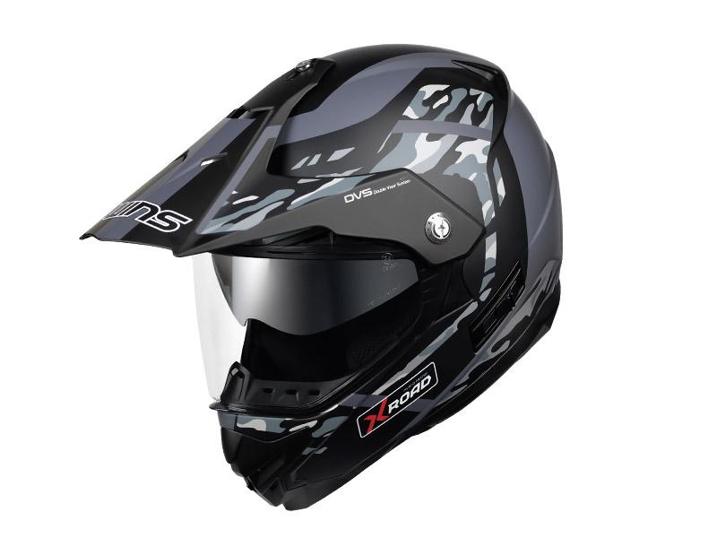 ウインズ(WINS)オフロードインナーバイザーつきヘルメット X-ROAD グラフィック(FREE RIDE) (マットカモグレー・M)