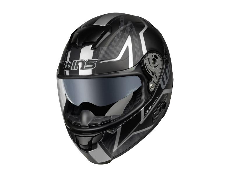 ウインズ(WINS)フルフェイスヘルメット FF-CONFORT(コンフォート) グラフィック(GT-Z) (マットブラック×ホワイト・L)