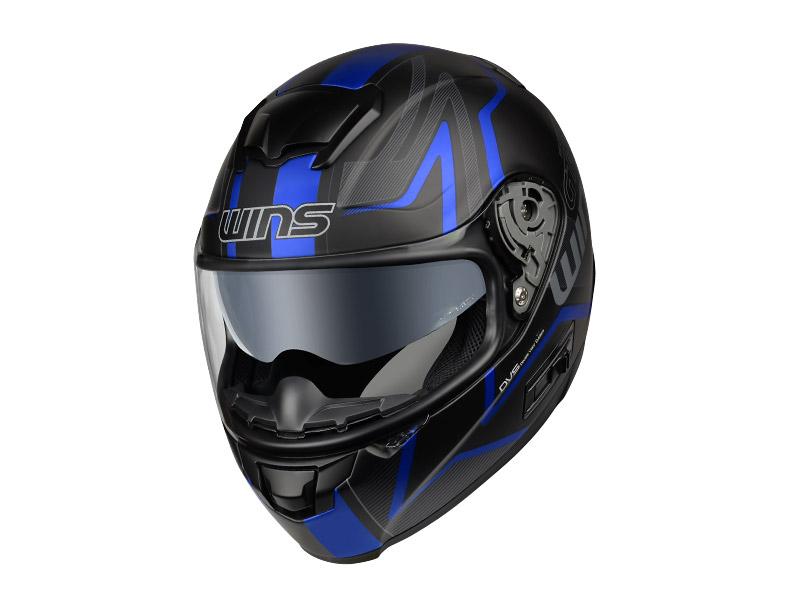 ウインズ(WINS)フルフェイスヘルメット FF-CONFORT(コンフォート) グラフィック(GT-Z) (マットブラック×ブルー・L)