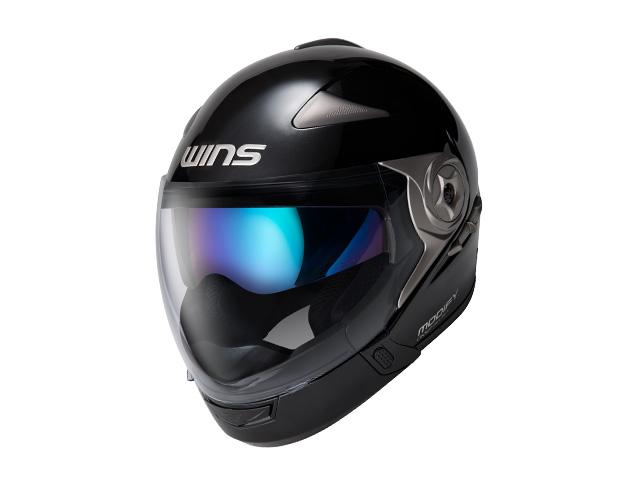 ウインズ(WINS)ジェット+アゴつきヘルメット MODIFY(モディファイ) アドバンス (メタリックブラック・XL)