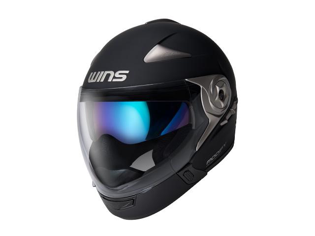 ウインズ(WINS)ジェット+アゴつきヘルメット MODIFY(モディファイ) アドバンス (マットブラック・L)