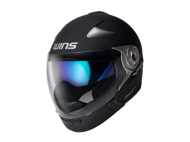ウインズ(WINS)ジェット+アゴつきヘルメット MODIFY(モディファイ) アドバンス (マットブラック・XL)